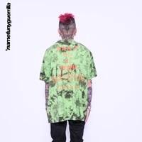 namefunyguerrilla tie dye tshirt hip hop streetwear tshirt harajuku summer cotton tops tees mens clothing woman tshirts ls05