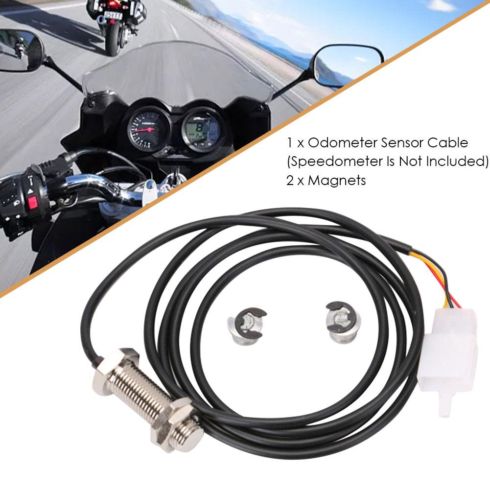 Motorcycle Odometer Sensor Cable Scooter Durable Digital Speedometer Magnetic Sensor Replacement Kit