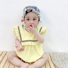 Yg brand children's clothing summer new Korean triangle bag fart clothes girl's Jumpsuit Baby Short