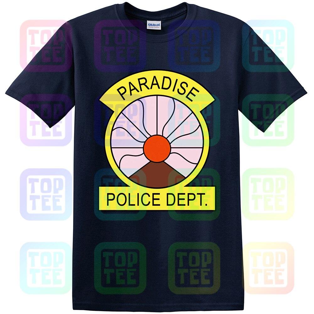 Camiseta para adultos y adultos con insignia del Departamento de Policía no oficial del paraíso PD