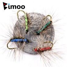 Bimoo 10 шт. #12 Crackleback Гнат для ловли форели, для рыбалки, сухие мухи, павлин, Herl Back, красный, зеленый, Chartreuse, синий цвет