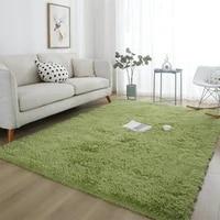 1pc plush carpet for living room fluffy rug thick bed room carpets anti slip floor gray soft rugs tie dyeing velvet home textile