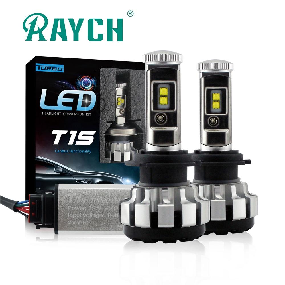2 uds H1 H3 LED H7 H8 H11 HB3 HB4 H4 9004 9007 bombilla de coche T1S bombillas de faro delantero de coche 80W 8000LM estilo de coche 6000K lámpara Led Turbo Led