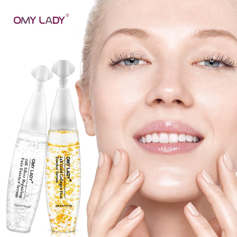 OMYLADY Silver Silk Collagen  Face Serum Anti-Aging Anti-wrinkle  Lighten Spots Hyaluronic acid Moisturizing Whitening Firming