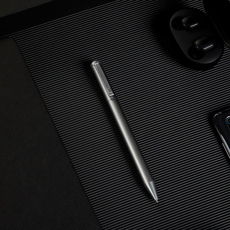 Deli Metal Gel Pen Business Office Rotating Gold Signature Pen Carbon Pen 0.5mm Bullet Black signing pen Silver Conference Pen