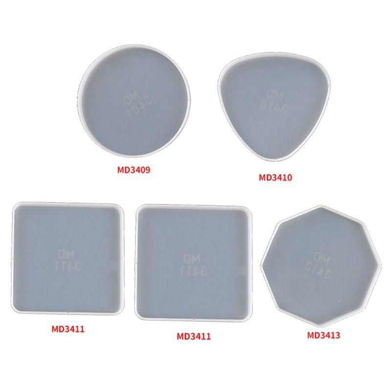 Molde de resina Epoxy 1 ud. De posavasos irregulares, bandeja de silicona para líquidos, molde de artista, tapete para té, haz tu propia bandeja, posavasos, Kit de moldes de resina