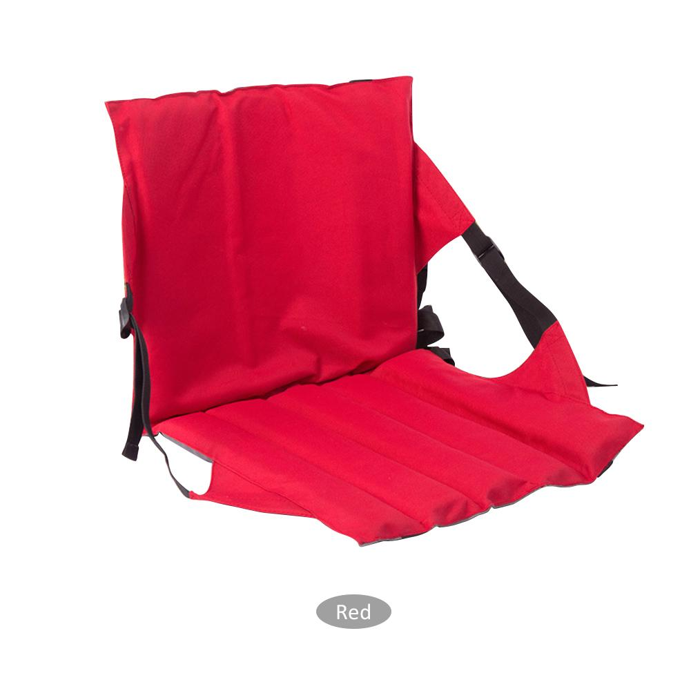 Foldable Outdoor Cushion Chair With Backrest Portable High Quality Oxford Cloth Adjustable Folding Seat