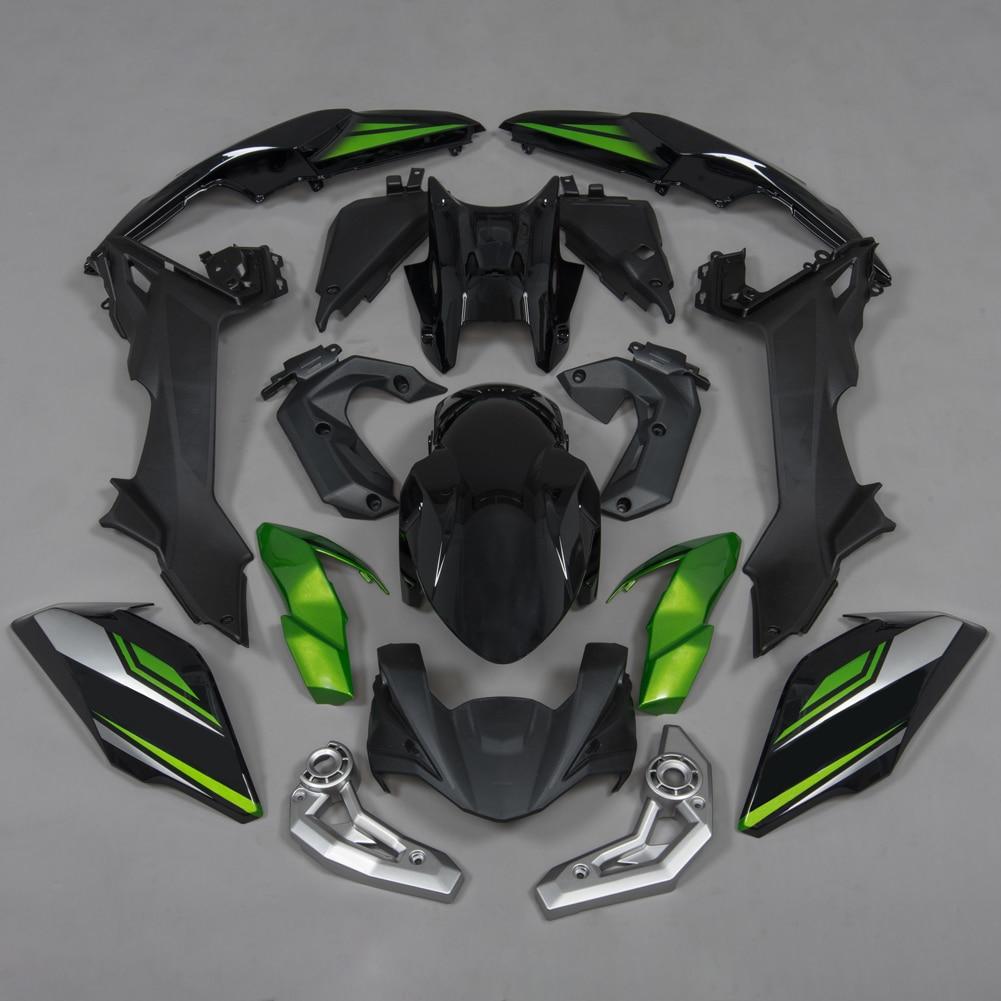 مجموعة هدايا الدراجات النارية لدراجات كاواساكي Z650 Z 650 H 2017 2018 2019 ZR650 ER650 ABS رسمت حقن هيكل السيارة الذيل غطاء لوحي جانبي