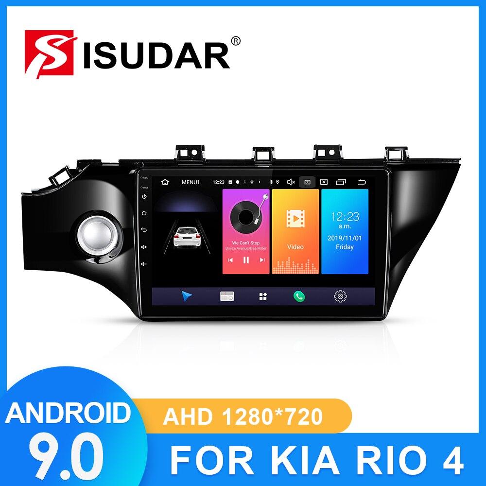 ISUDAR Radio del coche para KIA/4 2016, 2017, 2018, 2019 2 din Android 9 Autoradio Multimedia Cámara DVR con GPS RAM 2GB ROM 32GB USB IPS