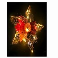 diy ornament party decor star shape light hanging decoration props light handicrafts festival pentagram pendant indoor decor