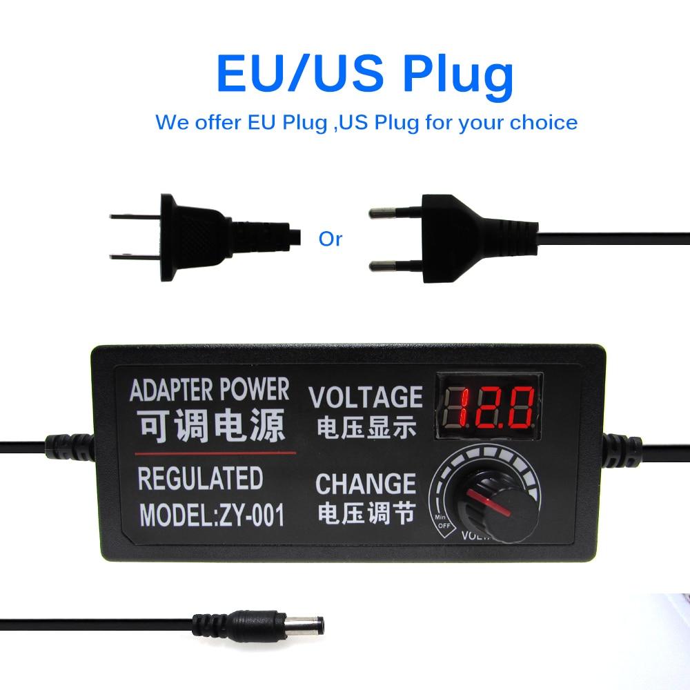 Adjustable Adapter With Display Screen AC to DC 3V-12V 3V-24V 9V-24V Voltage Regulated Power Supply Adatpor 3 12 24V enlarge