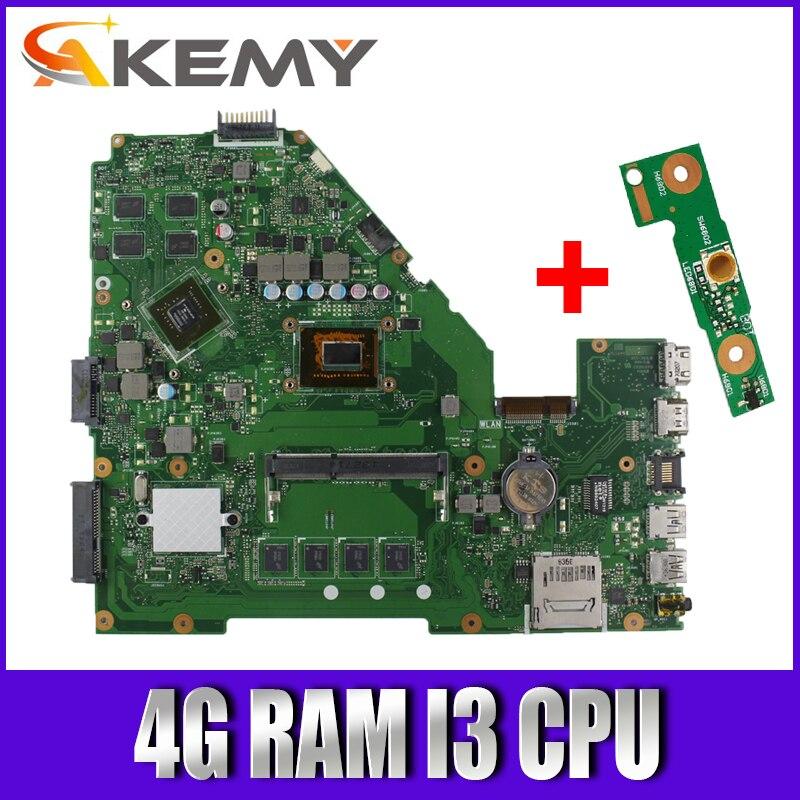 لوحة أم للكمبيوتر المحمول Akemy X550CC لـ For Asus A550C X550CL R510C لوحة رئيسية أصلية اختبار 4G RAM I3 CPU GT720M
