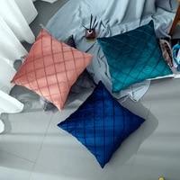 43x43cm cushion cover striped velvet throw suede pillow cover retro cushion solid color vintage cushions kissen abdeckung