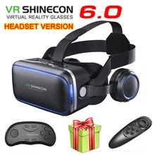 VR Shinecon 6.1 VR Virtual Reality  3D Glasses Google Cardboard VR Headset Box Goggles Headset Helmet for Smart Phone