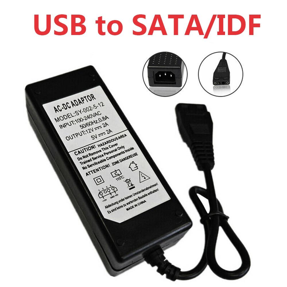 Alta calidad 12 V/5 V 2.5A USB a IDE/SATA adaptador de fuente...