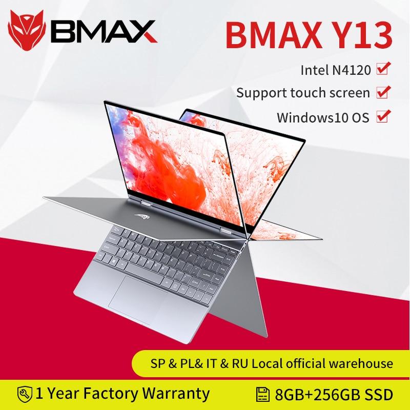 حاسوب محمول بي ماكس Y13 انتل N4120 13.3 بوصة رباعي النواة 1920*1080 IPS شاشة 8GB LPDDR4 RAM 256GB SSD حاسوب محمول windows10