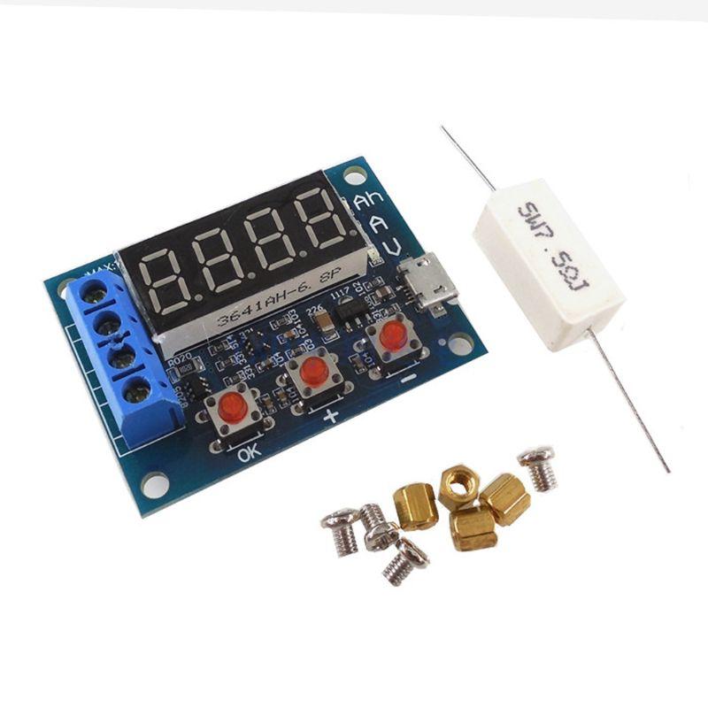 Probador de capacidad de batería de HW-586, 1,2 V 12V 18650, módulo de prueba de Li-ion de ácido de plomo