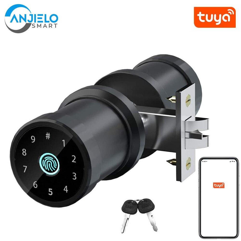 Смарт ключа RFID защита от следов от пальцев и безопасный Tuya Bluetooth Сенсорный экран цифровой дверной замок для Отели и офисы дома