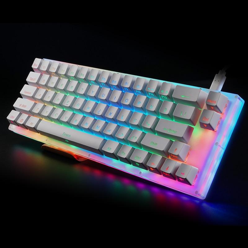 Womier-مجموعة لوحة مفاتيح ميكانيكية مخصصة k66 ، 65% ، 66 ، علبة PCB ، مفتاح قابل للتبديل السريع ، متوافق مع تأثيرات الإضاءة مع مفتاح RGB led