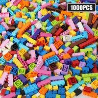 1200PCS City DIY Building Blocks for Creative Colorful Bulk Bricks Educational Toys For Children Compatible All Brands