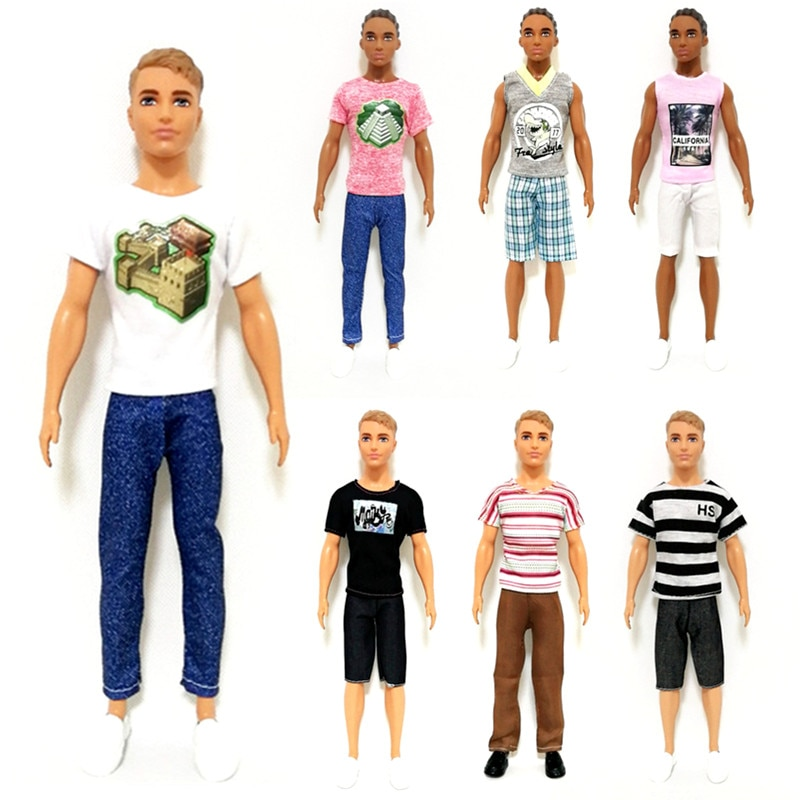 newest handmade fashion 14 items set doll accessories 1 toys suv 13 accessories lover travel auto cars for barbie ken car toy Ken the Boyfriend Handmade Outfit Set Clothes for Barbie  BJD Doll Accessories Play House Dressing Up  Kids Toys