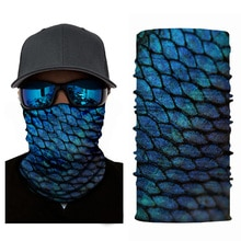 3D Fish Animal Printing Scarf Cycling Sports Protection Bandana Neck Gaiters Outdoor Hiking Scarves