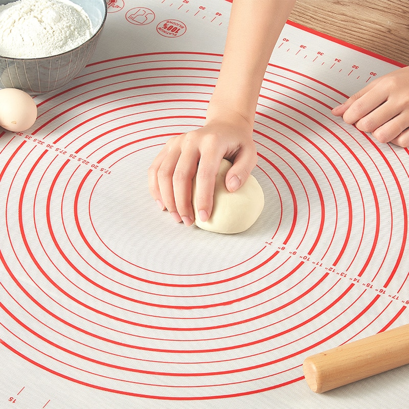 Silicone Baking Mats Sheet Pizza Dough Non-Stick Maker Holder Pastry Kitchen Gadgets Cooking Tools U