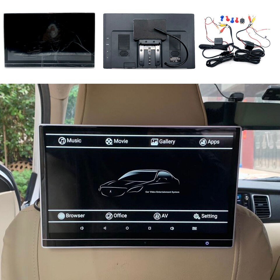 12.5 Inch Wifi Bluetooth Android Car TV Screen Headrest With Monitor For BMW 1 2 3 4 5 6 7 Series Rear Seat Entertainment System
