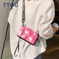 irregular diamond pvc crossbody bags for women fashion mini flap bags candy color shoulder messenger bag box shape sac a main