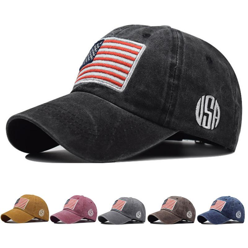 Unisex Hat Tide American Flag Cotton Cap Curved Baseball Cap Adjustable Outdoor Sun Hat unisex new curved bill blue pine tree dipper gravity falls cartoon hat outdoor changable cap trucker only blue