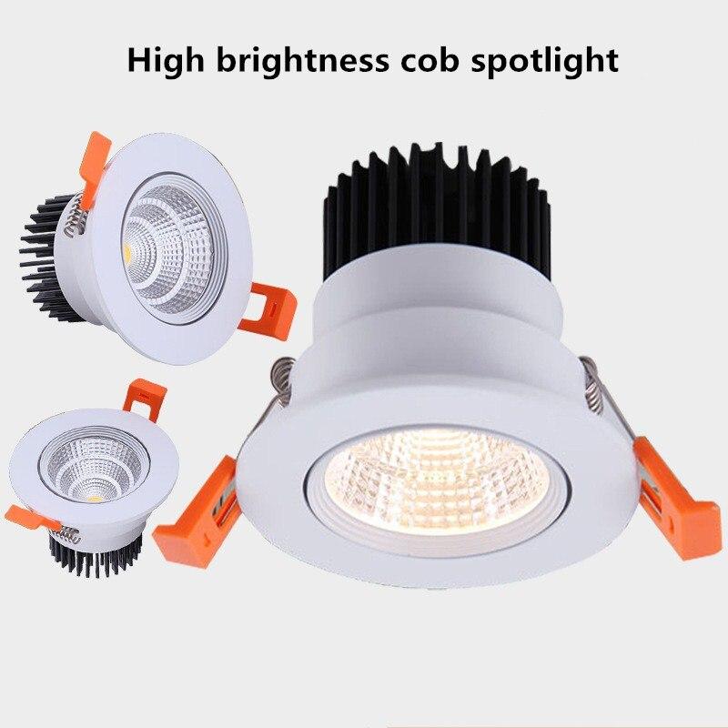 Светодиодный светильник 220В точечный светодиодный светильник с регулируемой яркостью 5W7W 9W 12W 15W Встраиваемый светодиодный потолочный свети...