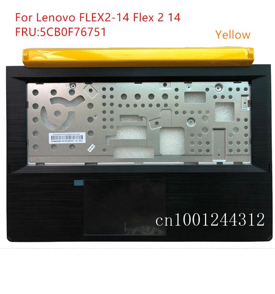 جديد الأصلي لأجهزة الكمبيوتر المحمول لينوفو FLEX2-14 فليكس 2-14 Palmrest العلوي حافظة لوحة المفاتيح الحافة غطاء 5CB0F76751