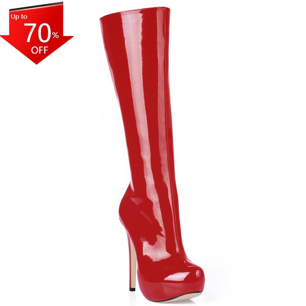 Botas hasta la Rodilla de tacón Alto de Aguja para Mujer, zapatos sexys de tacón de Aguja, para Fiesta, YJ3463BT-b2