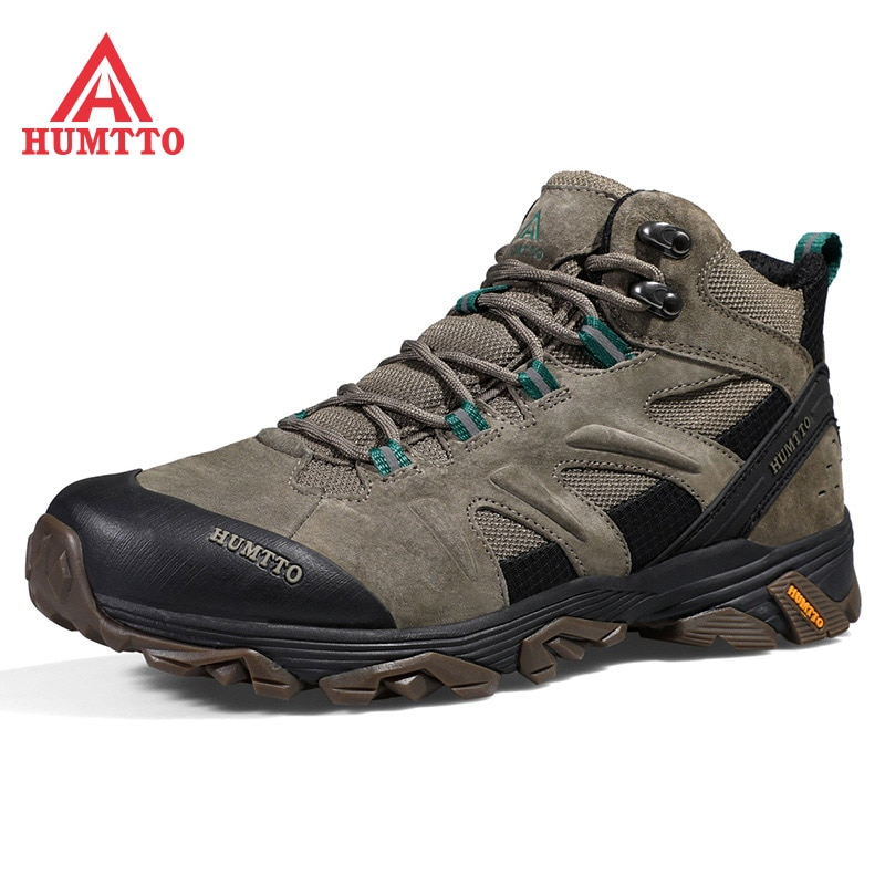 aleader winter warm men hiking trekking boots men outdoor walking shoes genuine leather climbing sneakers jogging shoes with fur HUMTTO Waterproof Climbing Camping Men Boots Professional Outdoor Hiking Shoes Mens Genuine Leather Trekking Mountain Sneakers