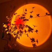 sunset projector lamp rainbow atmosphere led night light for home bedroom coffee shop background wall decoration usb table lamp