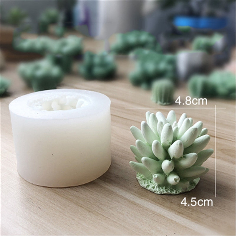 3D Cactus Succulents Silicone Mold For Jelly Chocolate Ice Making Cake Baking Gypsum Wax Concrete Candle Mould DIY Resin Art Too  - buy with discount