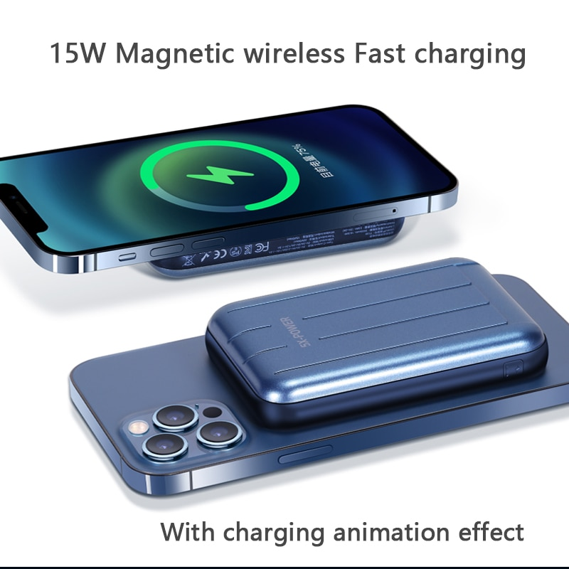 For Magsafe Charger 15W Magnetic Power Bank Fast Wireless Charging For iphone 12 12Pro 12proMax xiaomi Magnet External Battery