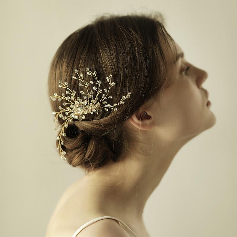 O834 Handmade bridal crystal hair comb wedding accessory bridal hair comb wedding headpiece hairpiece for party недорого