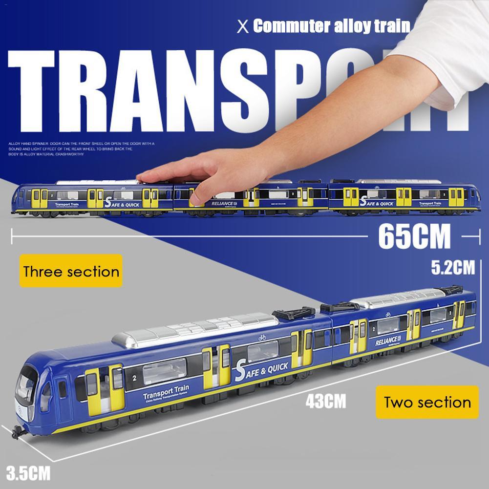 Simulación 1: 87 tren de juguete conjunto de coches de aleación de alta velocidad juguetes de tren de Metro modelo de tren ligero para niños regalos