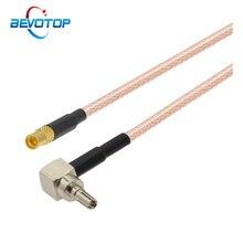 10 pièces CRC9 mâle à Angle droit à MMCX femelle Jack RG316 RF câble coaxial MMCX à CRC9 Pigtail 3G 4G antenne routeur Extension cavalier