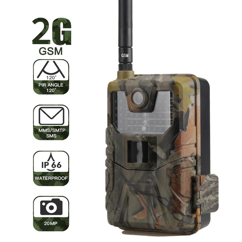 HC-900M Hunting Trail Camera 2G MMS SMS SMTP Wild Camera Night Vision Photo Traps 0.3s Trigger Scout Animals Wireless Camera