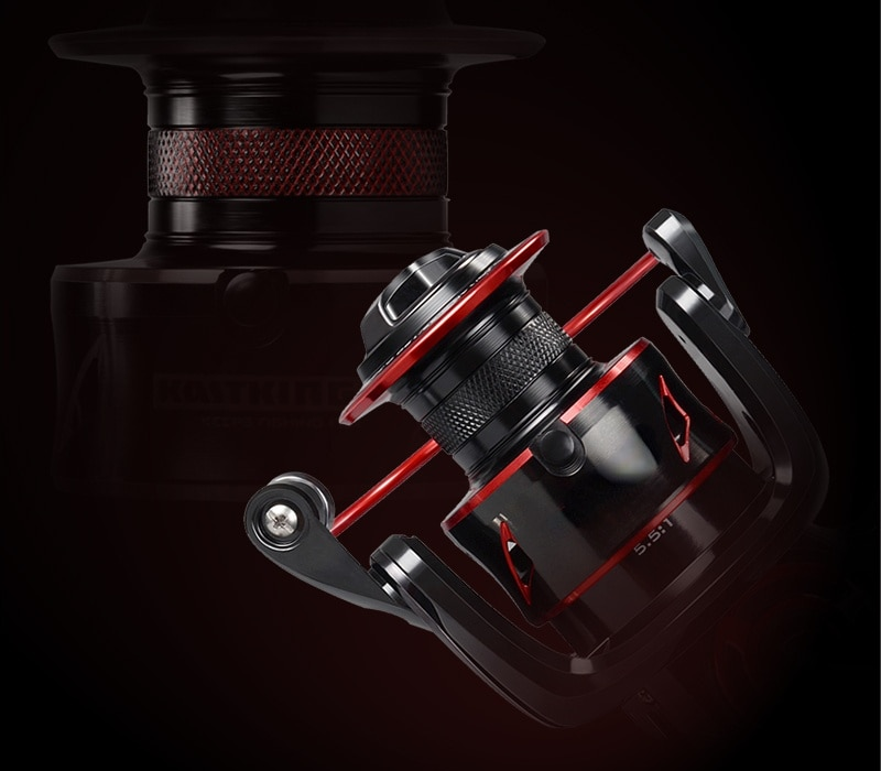 Drag Carp Fishing Reel with Extra Spool Front and Rear Drag System Freshwater Spinning Reel enlarge