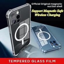 Transparent Magnetische Sicherheit Handy Fällen Schutz Zurück Deckt TPU + PC Material Weiche Shell Für IPhone 12 Mini 12 pro Max