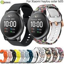 Montre de sport souple Bracelet en Silicone 22mm Bracelet de montre pour Xiaomi haylou solar ls05 bracelets intelligents Bracelet Correa respirant
