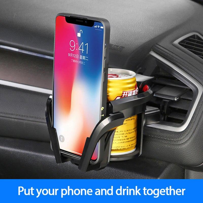 Два в одном автомобильный подстаканник и мобильный телефон держатель на выходе вентиляционное отверстие подстаканник держатель для напит...