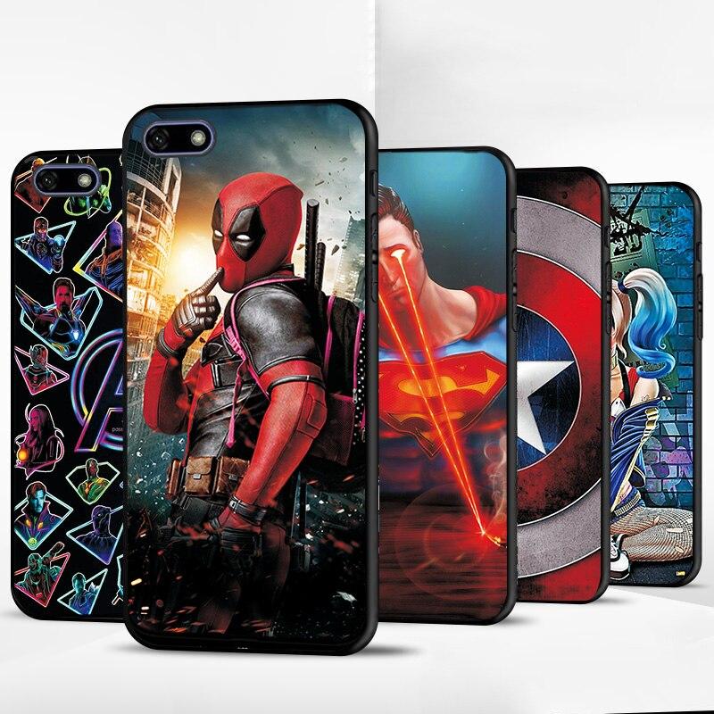 Для Huawei Y5 Lite 2018 Y5Lite 2018 Venom ЧЕРНЫЙ ТПУ чехол для телефона Huawei Y5 2018 Y52018 Prime задняя крышка Мстители чехлы Сумки