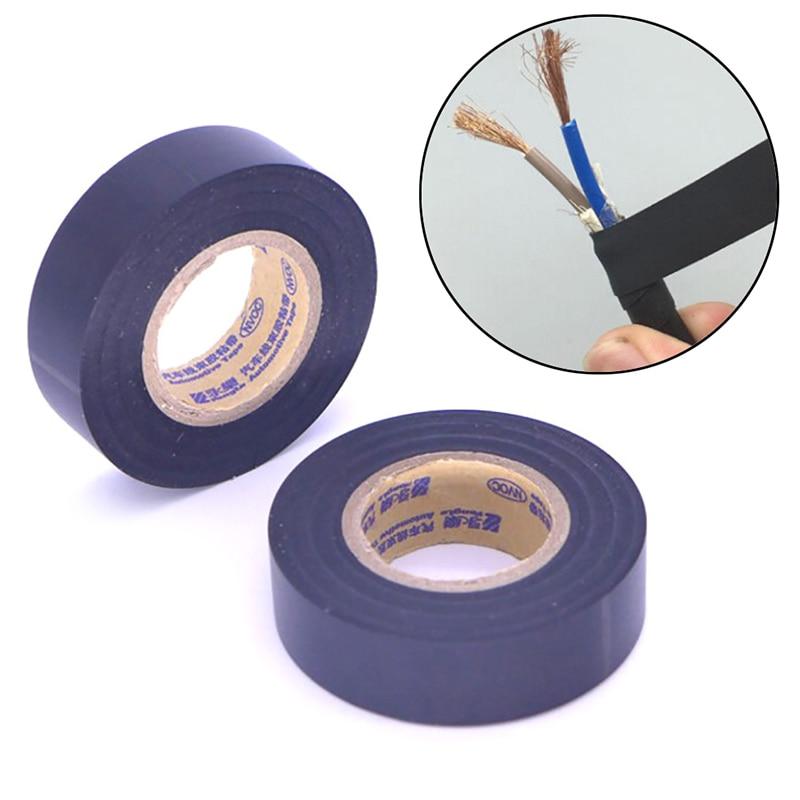 Черные ПВХ электрические ленты огнестойкая изоляционная клейкая лента 18 мм x 25 м DIY электрические инструменты