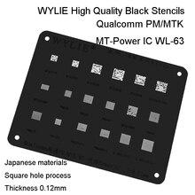 WL-63 PM670A PM670L PMI632 PM670 MT6336WP PM540 PM660 PM640 MT6335WP PM845 Power PM IC Chip BGA Reballing Schablone