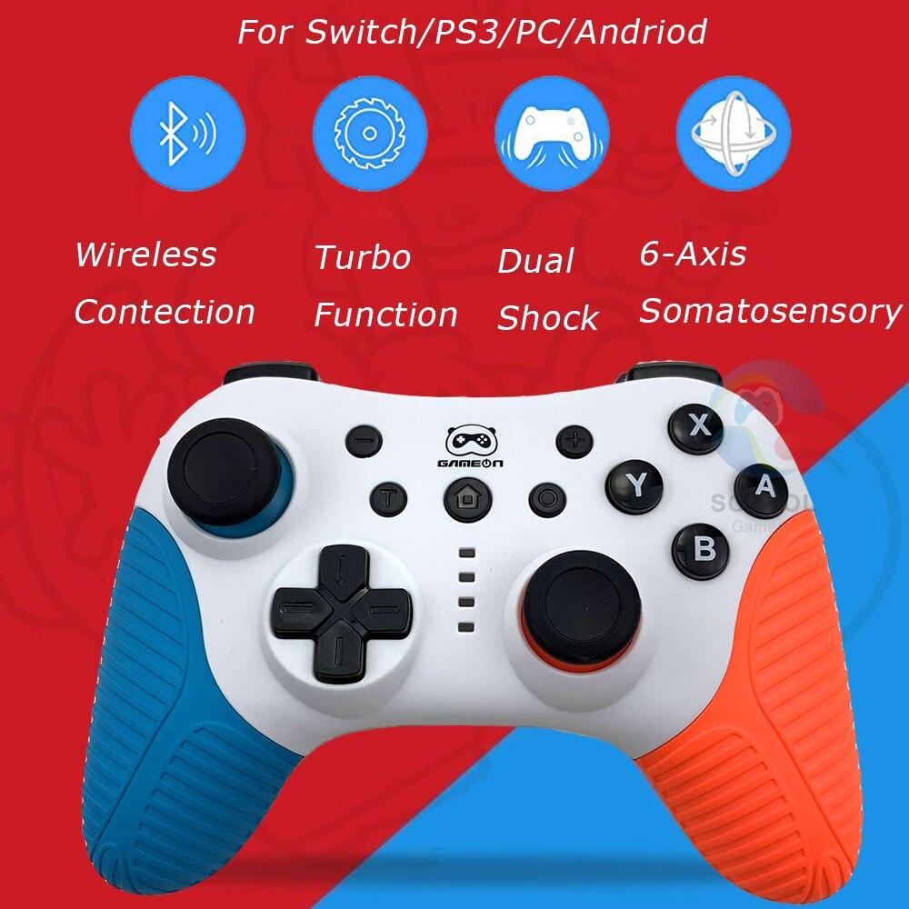 Лидер продаж, 2 цвета, для Nintendo Switch NS, Bluetooth, беспроводной контроллер, Двойной вибрационный игровой джойстик, геймпад для ПК, Android PS3