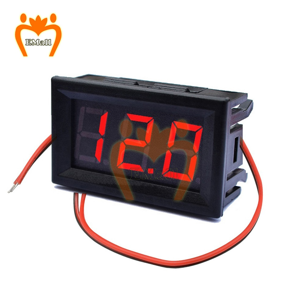 Цифровой вольтметр DC 5V до 120V 2 провод цифровой вольтметр напряжение панель метр для электромобиля мотоцикла автомобиля LED дисплей датчик